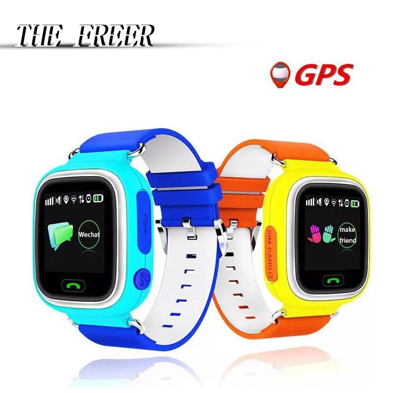 Q90 GPS Touch Screen WIFI Position Smart Watch Children SOS Call Location Finder Tracker Kid Safe Anti Lost Monitor pk Q50 Q80 детские часы gps трекер smart baby watch q50 розовые