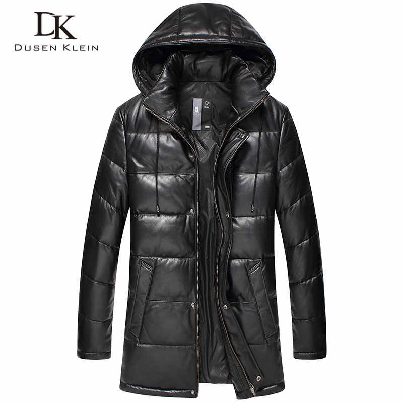 Dusen Klein New 2017 Jackets Men Genuine Leather Down Jackets Winter Outerwear Sheepskin Coat  15D117