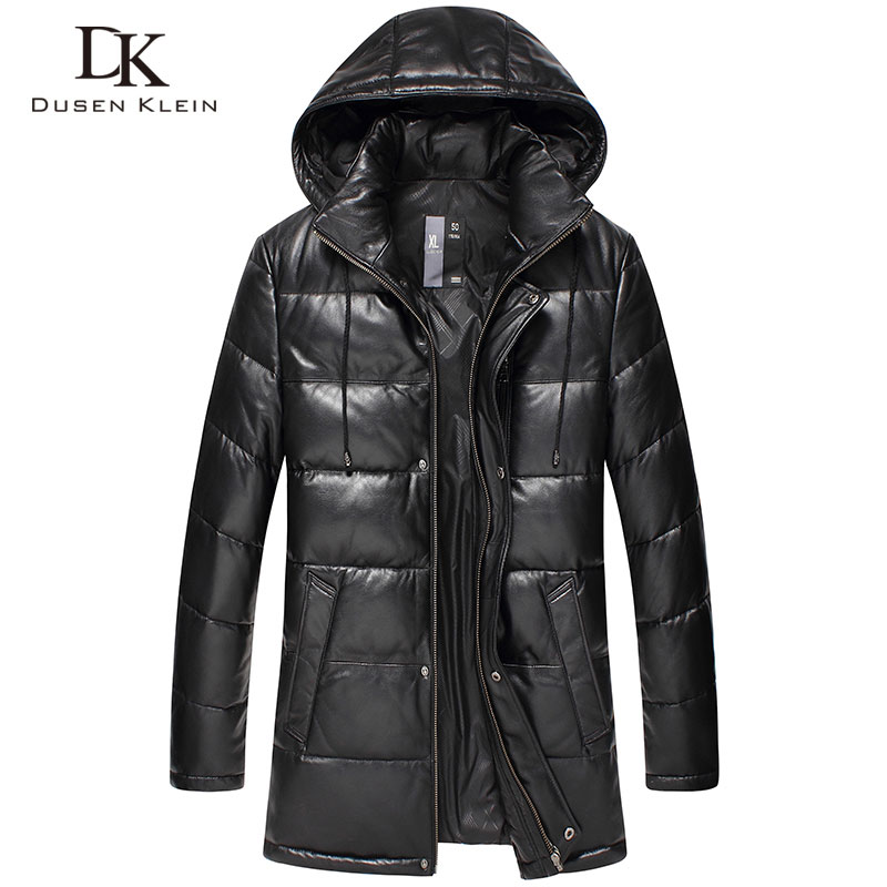Dusen Klein New 2017 жакеты Men Genuine Leather Down Қаптамасы Қысқы Сыртқы киімдер Sheepskin Coat 15D117