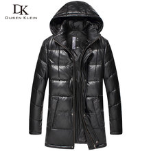 Dusen Klein New 2016 Jacket Men Genuine Leather Down Jackets Winter Outerwear Sheepskin Coat  15D117