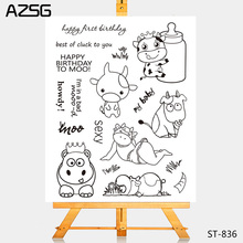 AZSG Cattle Clear Stamps/Seals For DIY Scrapbooking/Card Making/Album Decorative Silicone Stamp Crafts