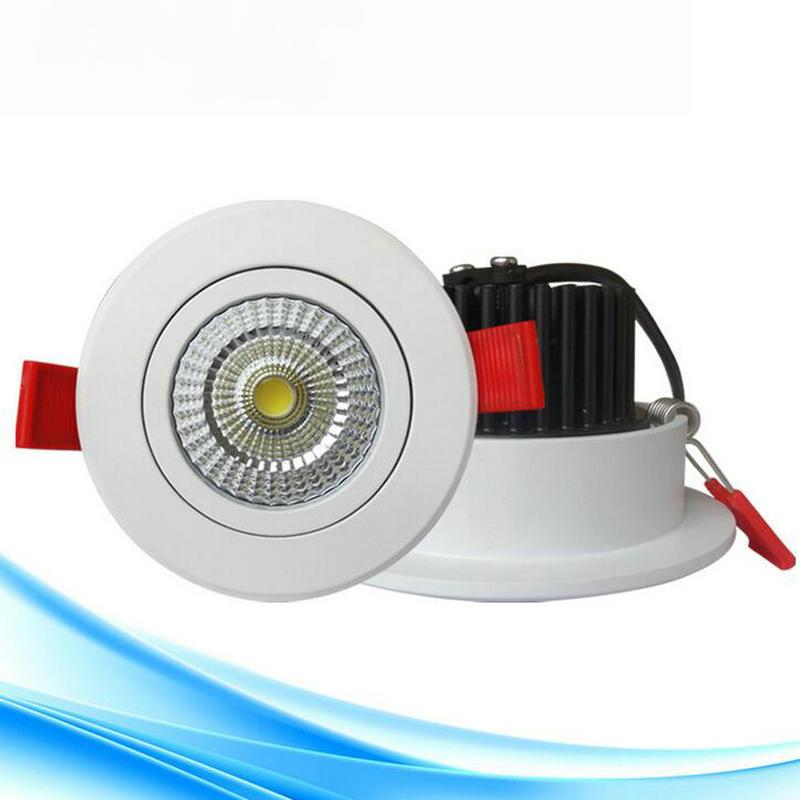 Бесплатная доставка 12 Вт COB Потолочный светильник СИД Epistar потолочный светильник Встраиваемые пятно света AC85V-265V