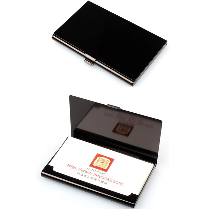 Top Brand Business ID Credit Card Holder Wallets Pocket Case Bank Credit Card Package Case Card Box fashion unisex business credit card holder top brand alloys bank card case id holders card organizer drop shipping gift yl
