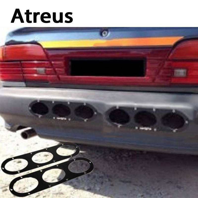 Atreus 2X Car Styling Bumper Race Deflector Air Diffuser Panel For Mercedes Benz W203 W204 W212 W211 AMG Citroen C4 C3 C5 Volvo with type window visor vent shades sun rain guard deflector for mercedes benz gle coupe c292 2015 2016