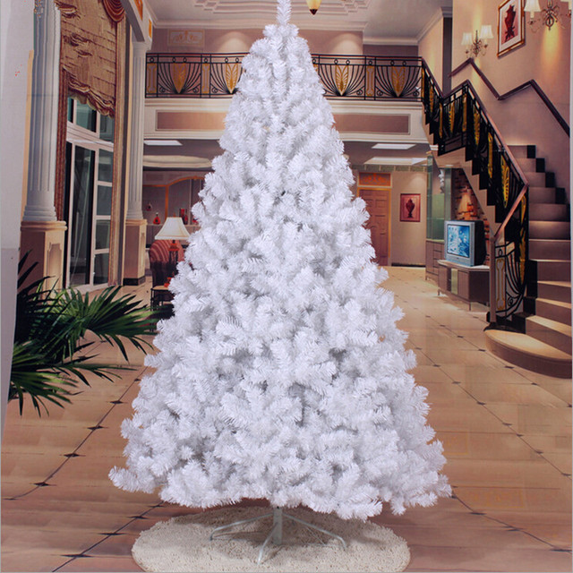 Christmas Tree 2 4 M 240cm Large White Decorated Bazaar Living Room Furnished