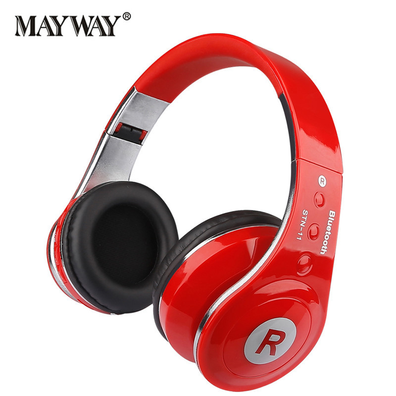 Wireless Bluetooth Foldable Headset HIFI Degree Sports Running Headphone With Mic Support FM Radio TF Card for xiaomi iphone
