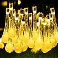 Солнечные Огни Строки 30 LED Капли Воды Солнечная Строка Фея Водонепроницаемый Строка Огни Рождественские Огни на Рождество Стороны