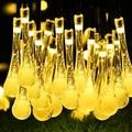 Gota de Agua Solares Hadas de la Secuencia Solar Luces de la Secuencia de 30 LED Impermeable Luces de la Secuencia de Navidad Luces para Fiestas de Navidad