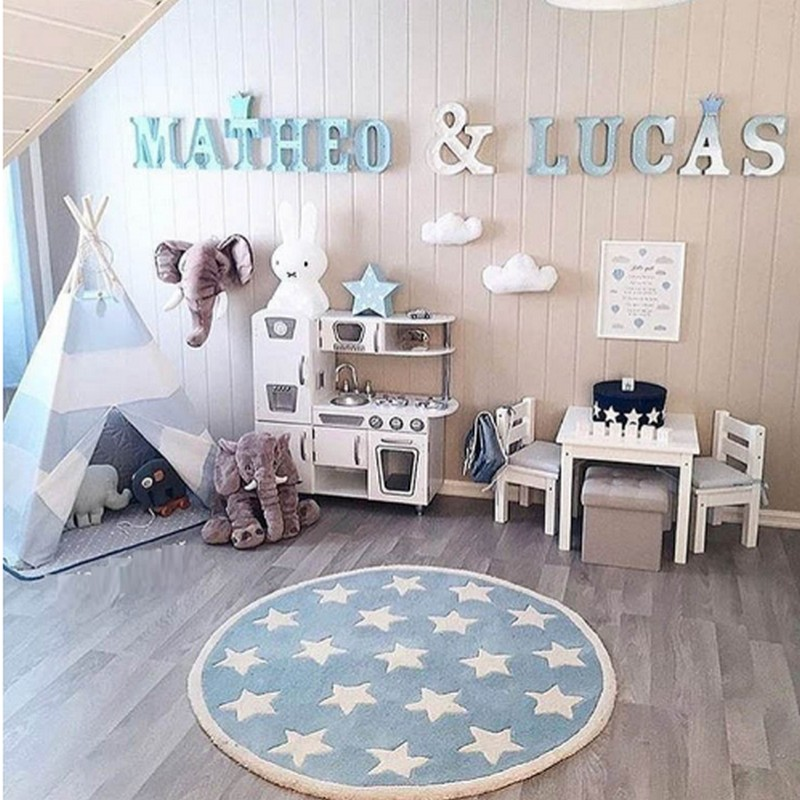 baby & kids playmat 2018 Nordic handmade round carpet Soft Warm Anti-slip Floor Mat, Kid ...