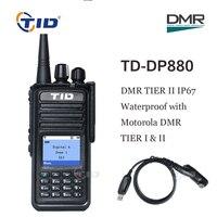 DMR радио TD DP880 Walkie Talkie DMR Tier II IP67 Водонепроницаемый UHF 400 470 MHz цифровое мобильное радио портативное Любительское радио