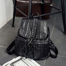 2017 натуральная кожа женщины рюкзак дамы сумки на плечо школьные рюкзаки для девочек-подростков Mochila Feminina путешествия C228