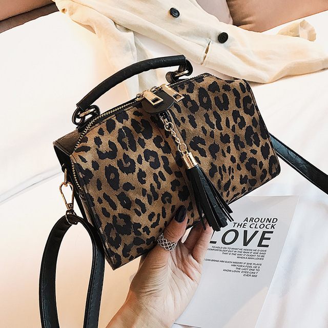 Crossbody Bag Shoulder Women Leopard Handbags 2018 Casual Style Messenger Lady Pu Tote Bags For