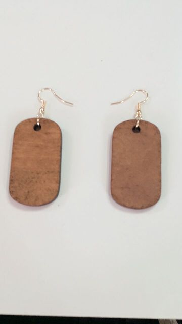 Fashion Square Good Wood Earrings Jewelry Personality Hollow New Design