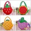 1 pc 20 cm crianças bonitos de pelúcia saco macio saco de frutas para meninas presente do dia das crianças