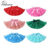 Милая пушистая юбка-пачка для новорожденных девочек, вечерние юбки принцессы с бантом, балетная юбка-американка, одежда один размер для От 0 до 2 лет