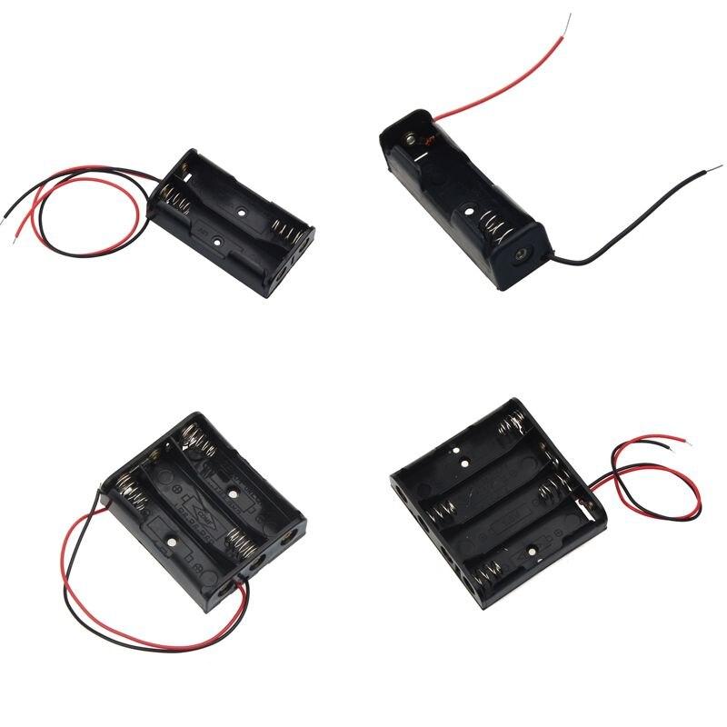 AA Size Power Battery Storage Case Box Holder Leads With 1 2 3 4 Slots AA Size Power Battery Storage Case Box