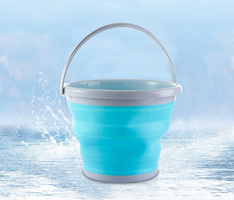 High Quality 10L Square Bucket Portable Folding Washing Hands Basin Foldable Camping Outdoor Fishing Sink Storage Water7