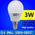 10 pieces/lot e14 led lamps 3w ac 220v led bulb warm/cool white high quality led light smd5730 led bubble ball bulb for bedroom