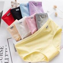 9Pcs/lot Cotton Underwear for Young Girls Solid Color Children Soft Panties Teenages Sweet Briefs Puberty Lingerie wholesale