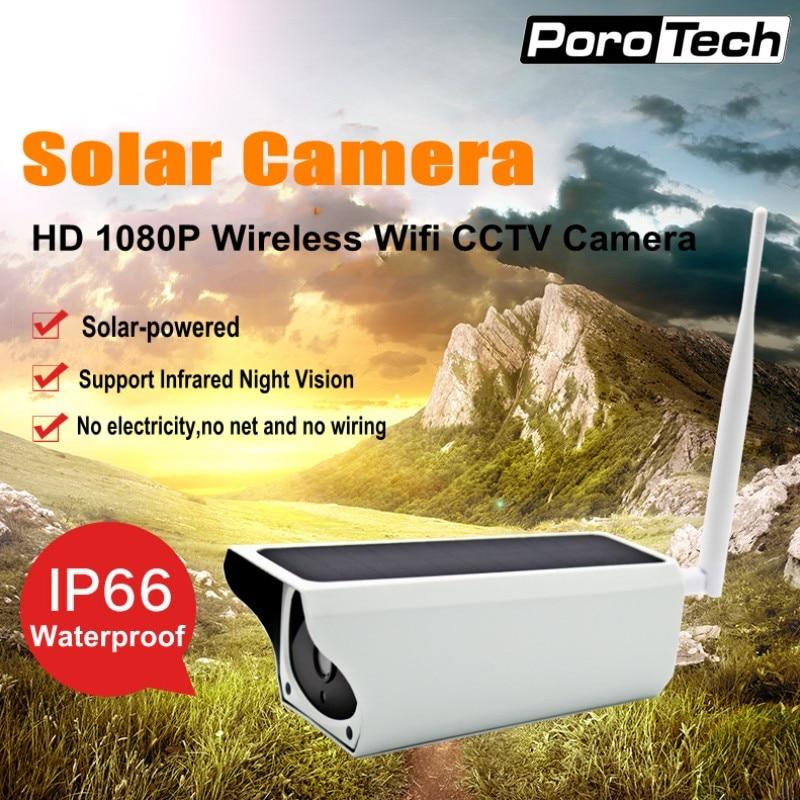 Y4 2MP Wireless Solar IP Camera Wifi Security Surveillance CCTV Camera IP67 Waterproof Outdoor IR Night Vision Solar Powered Cam