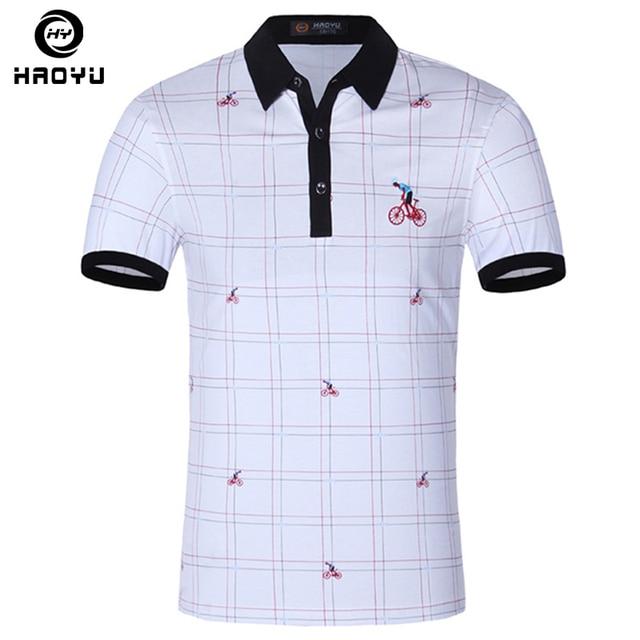 0ebf635ea Homens camisa polo famosa marca de moda casual de manga curta camisas  masculinas hombre man top