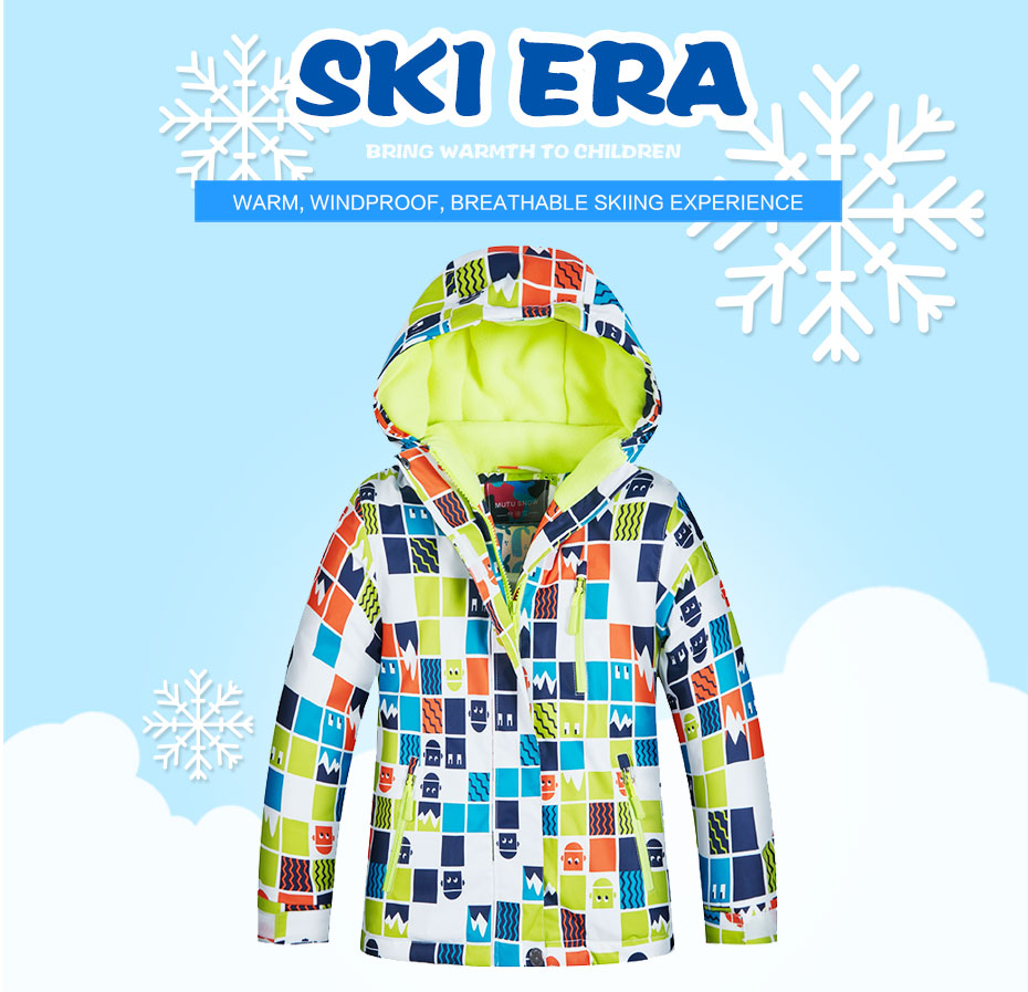 30 Single Board Double Jacket Latest Fashion Confident Mutusnow Childrens Ski Jacket Winter Childrens Windproof Waterproof Warm Ski Suit Boy Snowsuit Skiing & Snowboarding Sports & Entertainment