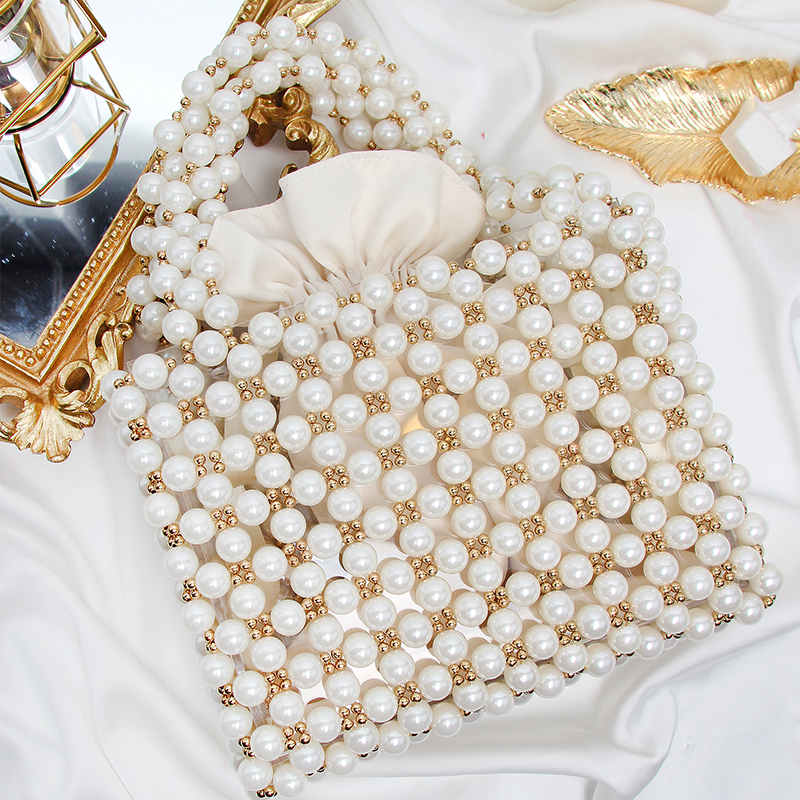 hand bag 2018 female fashion all-match small dinner banquet package bag ladies handbags handbag imitation pearls perfect the spot exquisite dinner pearl hand bag all match fashion models free shipping