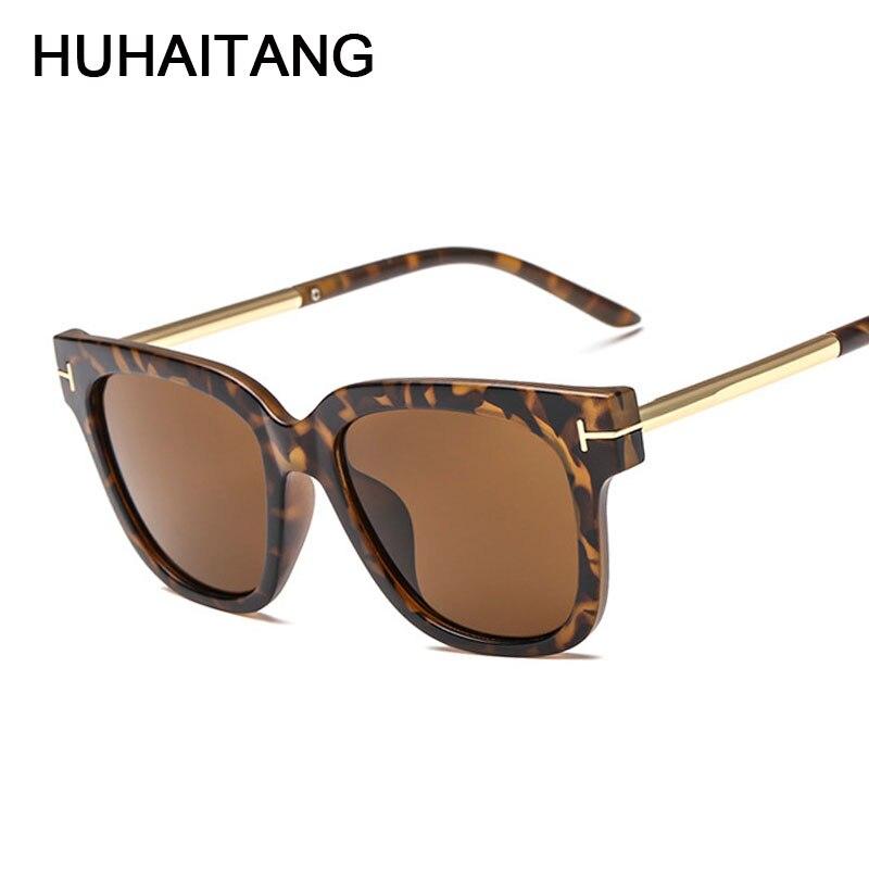 HUHAITANG Classic Square High Quality Ladies Sunglasses Women Vintage Luxury Brand Designer Men Sun Glasses Woman For Sunglass