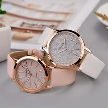 YOLAKO модные элегантные женские роскошные браслет женские повседневные кварцевые часы с кожаным ремешком звездное небо аналоговые наручные часы
