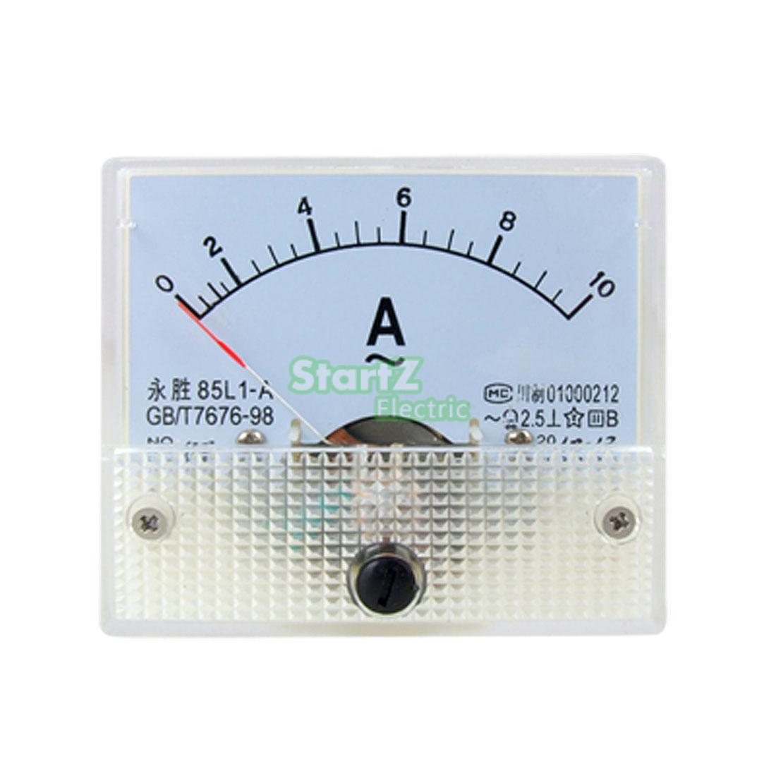 Analog Ac Amp Meter : Ac analog meter panel a amp current ammeters l