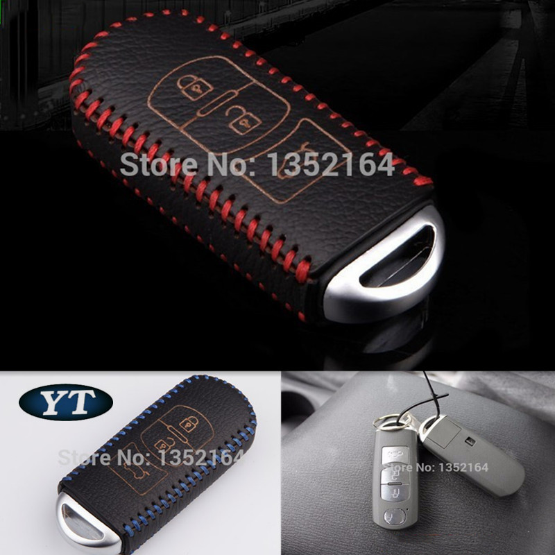 Genual Leder Schlüsselcover, Auto Schlüsselhalter Brieftasche für - Auto-Innenausstattung und Zubehör - Foto 1