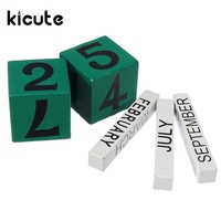 Kicute 1pcs Mini Wooden Calendar Wooden Decorative Ornaments Home Office Desk Decoration Supplies Christmas Gifts For