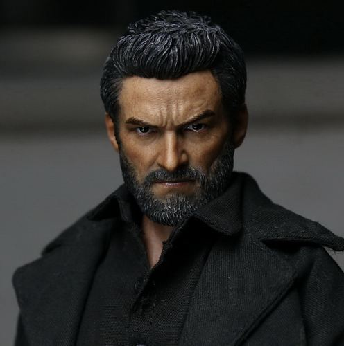 1/6th scale figure accesories Wolverine Hugh Jackman Logan head sculpt carved 12 Action figure doll.not include body;clothes 1 6 scale wolverine 3 logan hugh jackman head sculpt for 12 figure hot toys male head carving soldier head model toys