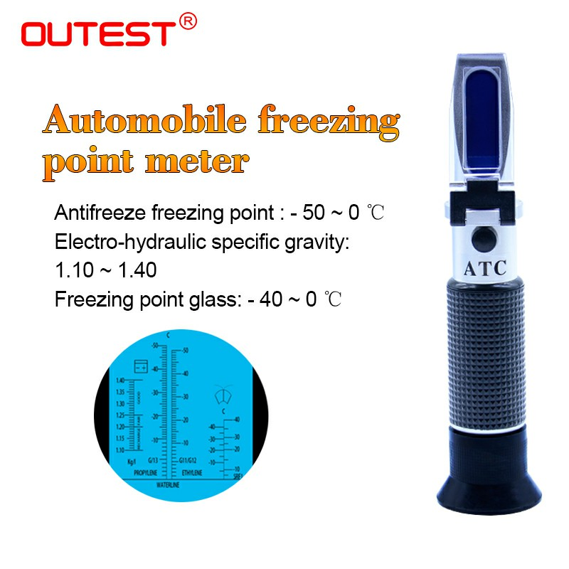 Refratometro Antifreeze tester Freezing Point meter Portable Freezing Point Freezing Point Detector refractometer RZ123 -50~0C exclamation point свитер