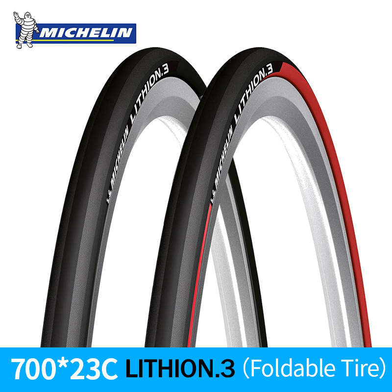 MICHELIN 1 Piece LITHION-3 Training Road Bicycle Bike Tire 700*23c Foldable Tyre Resistant Folding Ultralight Tyre Bicycle Parts michelin pro4 service course bicycle tire