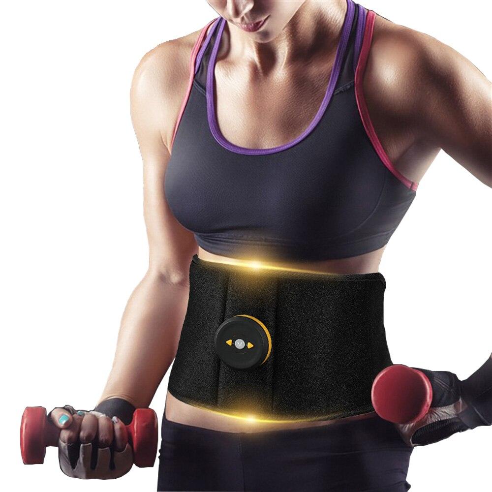 Ems abs cinto de tonificação abdominal sem fio vibração fitness massageador emagrecimento cintos do corpo estimulador muscular elétrico trainer cinto