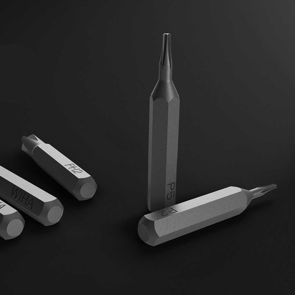 100% xiaomi Mijia Wiha Kit de vis à usage quotidien 24 embouts magnétiques de précision boîtier en aluminium tournevis xiaomi Kit de maison intelligente