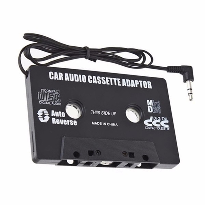 Car Mp3 Player Casette to Aux Walkman Casette Mp3 Player Tape Adapter For iPod For iPhone Android AUX Cable CD 3.5mm Jack Стикер