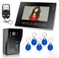 7 Inch Wired Video Door Phone Access Control System Two Way Intercom
