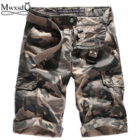 Mwxsd Brand Men Casual Camouflage Camo Cargo Cotton Shorts Slim Fit Shorts Joggers Short Trousers Male