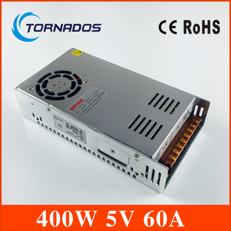 Free shipping ac to dc 5V 60A Switching Power Supply Driver led power supply 5v 60A For LED Strip light Display S-400-5 led power suply 13 5v 201w ac to dc switching power supply ac dc converter high quality s 201 13 5v free shipping