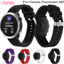 Pin buckle silicone twill strap sports ring wristband for Garmin Forerunner 645 smart watch replacement accessories strap Band kitfort кт 1010 черный