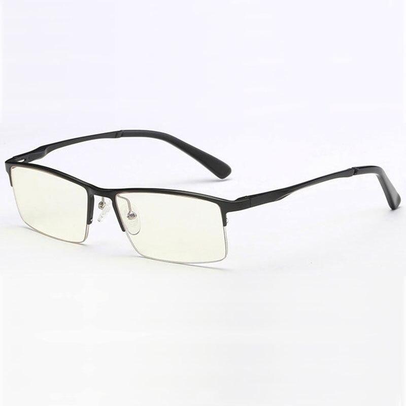 606 Optical Eyeglasses Frame for Men Eyewear Prescription Glasses Half Rim Man Spectacles Alloy Frame Eyeglasses in Men 39 s Eyewear Frames from Apparel Accessories