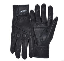 цена на AMU Motorcycle Gloves Leather Moto Glove Protective Gears Retro Motocross Glove Men Women Electric Bike Gloves