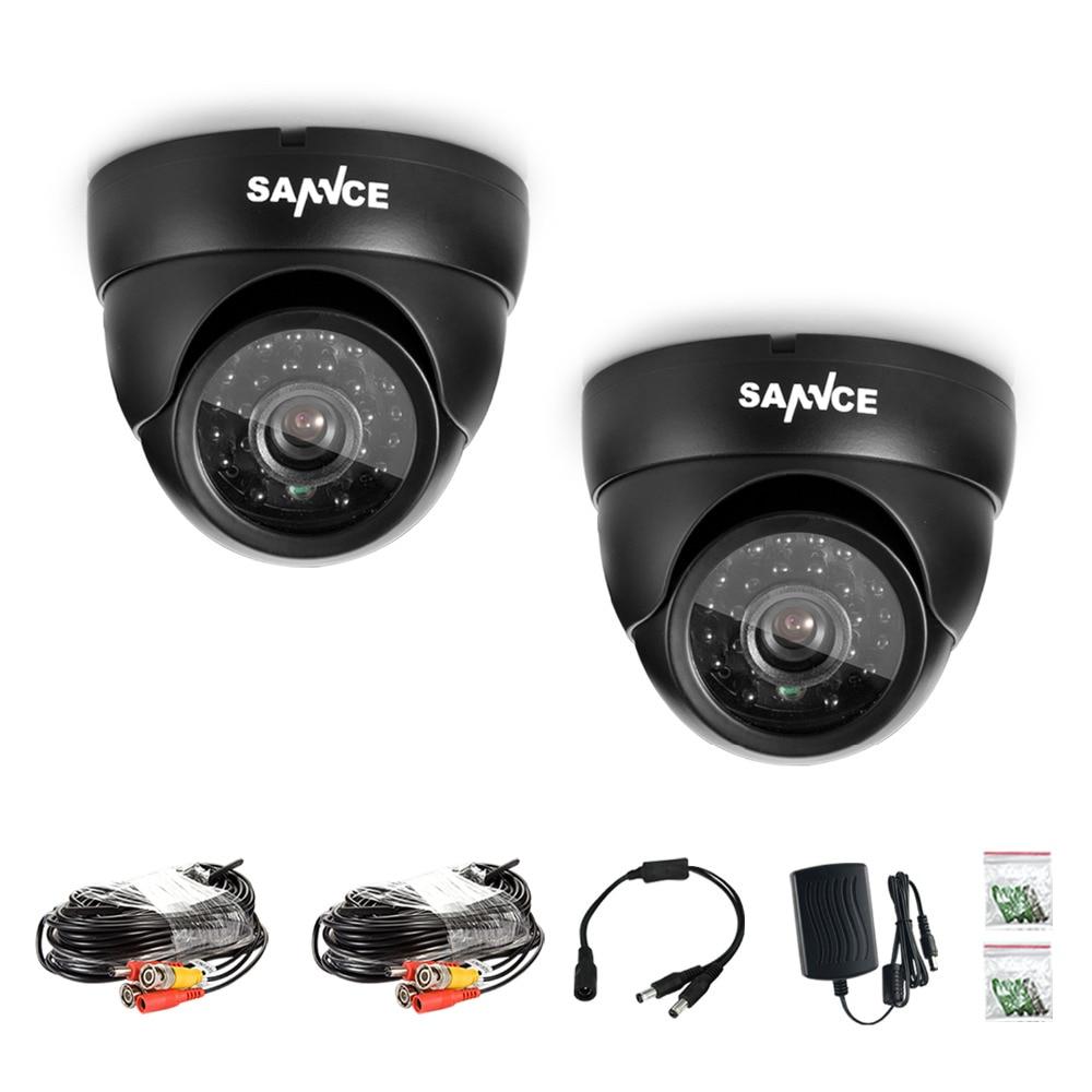 ФОТО SANNCE  2 PCS 800tvl  24pcs  LED,Up To 110 FT Night Vision High Resolution CCTV Security Cameras