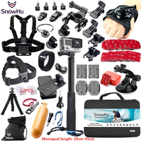 SnowHu For Gopro Accessories for gopro accessories set for gopro hero 7 6 5 4 3 kit for Xiaomi Camera sjcam accessories GS38