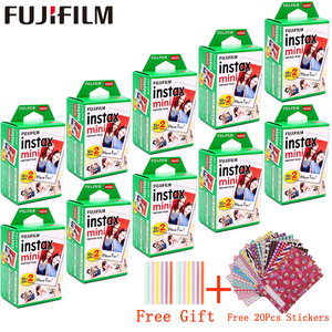 Image 1 - 10   200 גיליונות Fujifilm Instax מיני לבן סרט מיידי נייר צילום פוג י Instax מיני 11 8 9 7s 9 70 25 50s 90 מצלמה SP 1 2