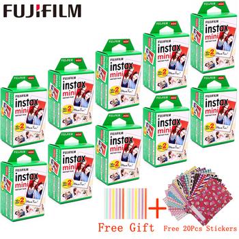 10-200 arkuszy fuji film Instax Mini biała folia natychmiastowy papier fotograficzny dla fuji Instax Mini 8 9 7s 9 70 25 50s 90 kamera SP-1 2 tanie i dobre opinie Fujifilm Natychmiastowa Film 10-200sheets Instax White Film ISO 800 30 Daylight type (5500K) 86x54mm 3 39 x2 13 62x46mm 2 44 x1 81