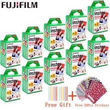 10   200 folhas fuji filme instax mini filme branco instantânea foto papel para fuji instax mini 11 8 9 7s 9 70 25 50s 90 câmera SP 1 2