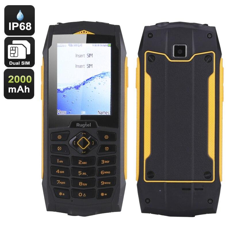 Original rugtel r1 ip68 resistente teléfono móvil 3g wifi teléfono gsm anciano s